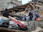 Naschokken in aardbevingsgebied Italië