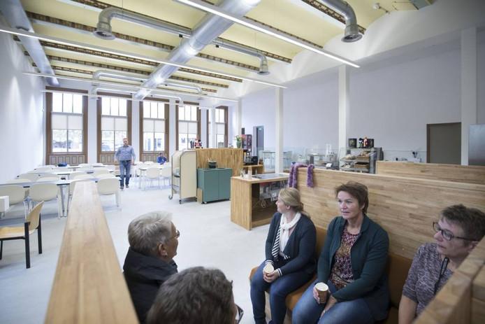 De nieuwe kantine in het oude postkantoor. Foto: Herman Stöver