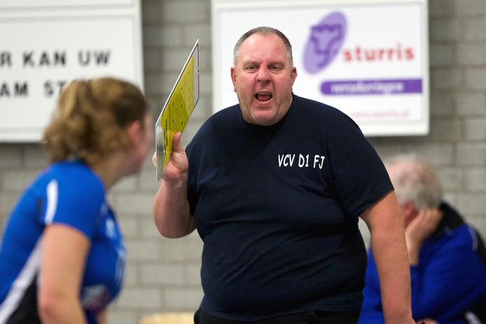 VCV-trainer Frans Jordens zag zijn team met 3-1 winnen. Archieffoto Jan van den Brink