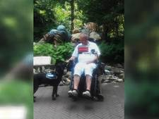 Wielrenner mishandelt hulphond van man in rolstoel