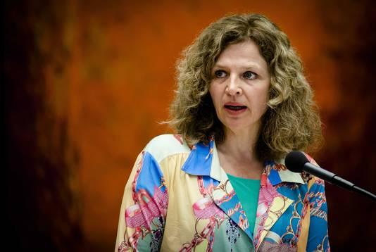 Minister Edith Schippers van VWS tijdens het vragenuur in de Tweede Kamer.
