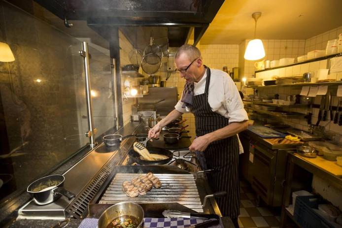 Chef-kok Eddie Palm zette bistro La Boucherie culinair op de kaart. Foto Bart Harmsen
