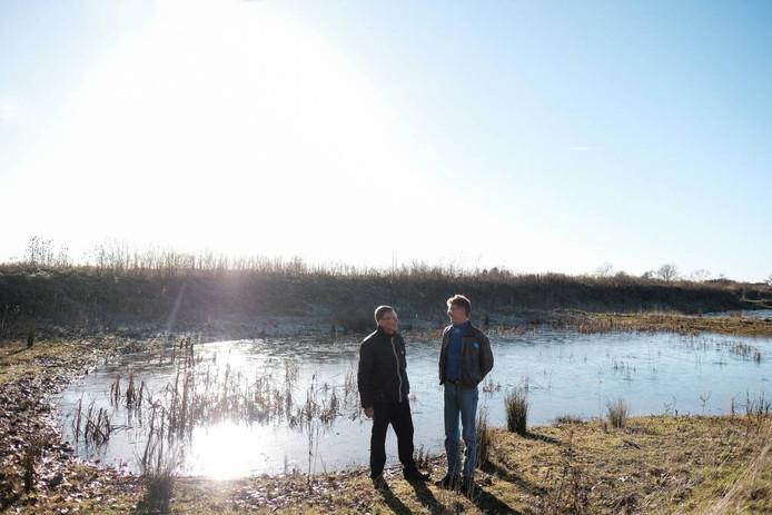 Herman Nijhof (l) en Arjan Berendsen bij de Knapperslag.