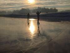 Eerste schaatsers op natuurijs in Gendt gesignaleerd