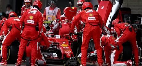 Mislukte pitsstop levert Ferrari boete op