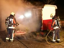 Bouwkeet Alphen afgebrand