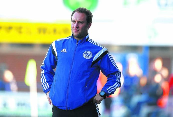 Grol-trainer Jeroen Burghout. Foto: Theo Kock