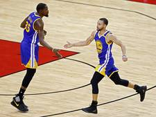 Curry en Durant leiden Warriors langs Rockets