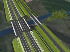 Slinge bij Groenlo verlegd voor bouw bruggen N18