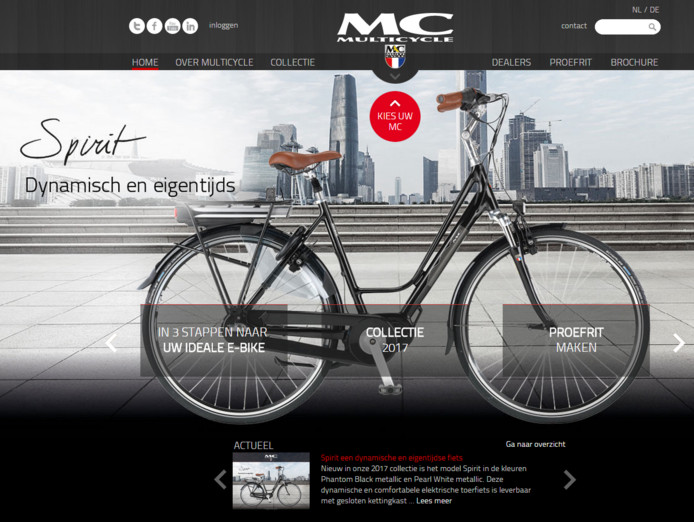 De website van Multicycle.
