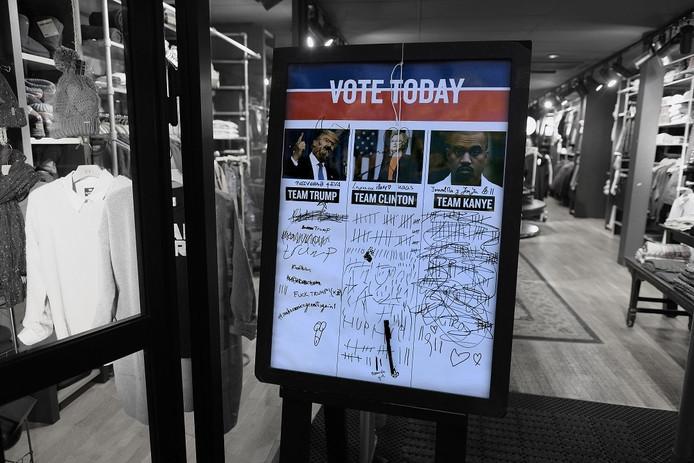 Klanten van America Today in Doetinchem zien graag Kanye West als de nieuwe president van Amerika.