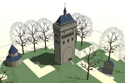 Herbouw grote toren op Valkhofheuvel komt dichterbij