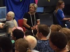Prinses Laurentien bezoekt Visio-school in Rotterdam