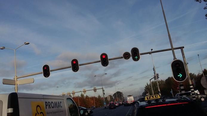 Het verkeer tussen Arnhem en Wageningen is nog ernstig vertraagd