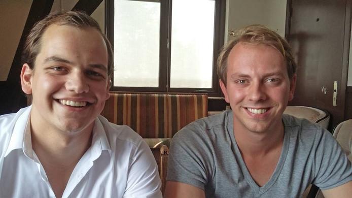 Dennis van der Vegt (r) en Gijs Heldens van Ovum Novum DG