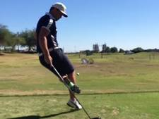 Noorse golfer baart opzien met heerlijke trickshot