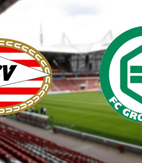 PSV nog zonder Siem de Jong tegen FC Groningen