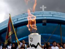 Opnieuw demonstratie tegen Olympische vlam in Brazilië