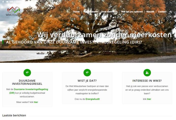 De website van WM3 Energie.