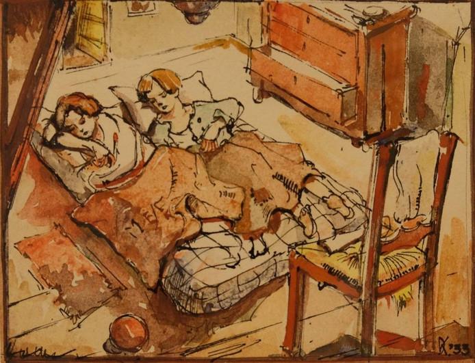 De tekening 'Voorheen' van Dick Ket.