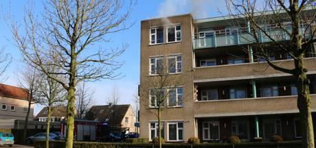 Brand op bovenste verdieping van flat in Cuijk