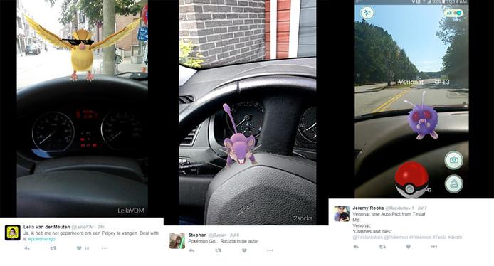 Pokémon verschijnen ook in de auto.