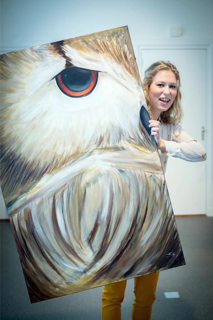 Een van de deelnemers aan de Kunstprijs Maas en Waal.