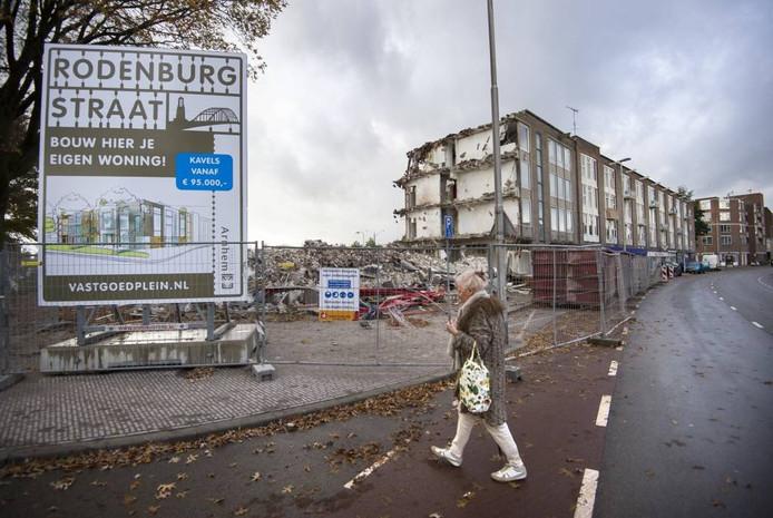 De hoek Rodenburgstraat-Broerenstraat in het centrum van Arnhem. Foto Rolf Hensel