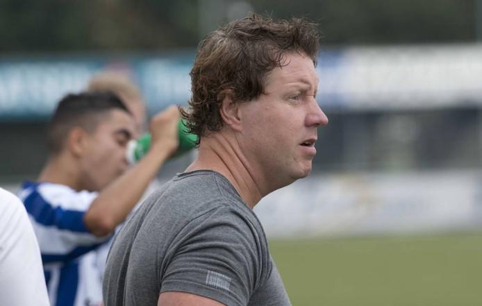 Jacob van Zanten, in zijn tijd als trainer van FC Lienden (zaterdag). Archieffoto: William Hoogteyling