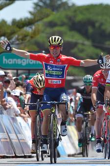 Caleb Ewan klopt Peter Sagan in Tour Down Under