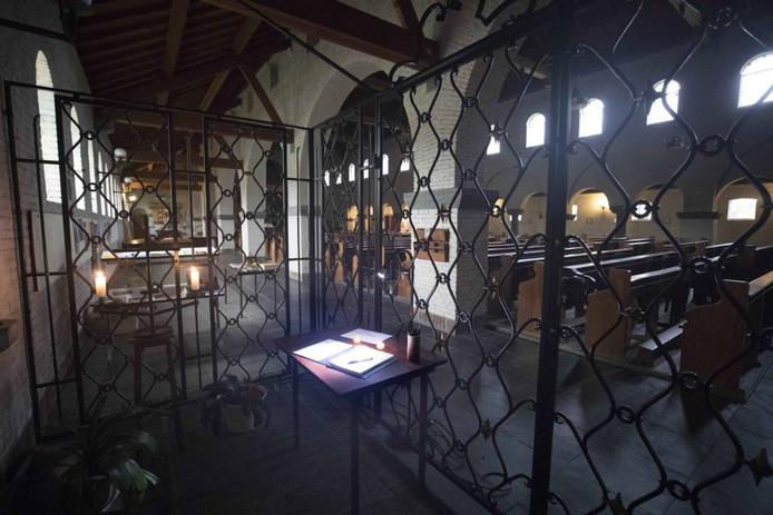 De plek in de Mariakapel in Breedeweg.