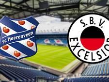 Heerenveen zoekt aansluiting met top tegen Excelsior
