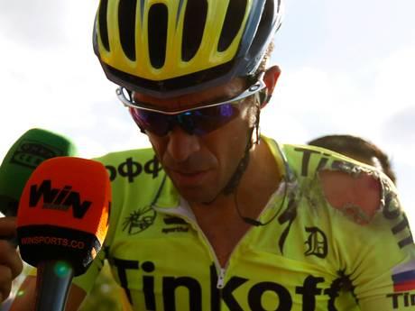 Alberto Contador zwaar gehavend, niets gebroken
