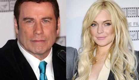 John Travolta en Lindsay Lohan