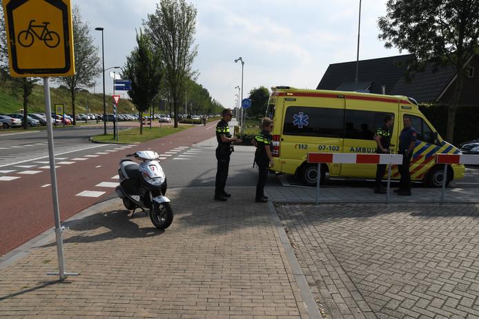 Ongeval tussen auto en scooter in Westervoort.