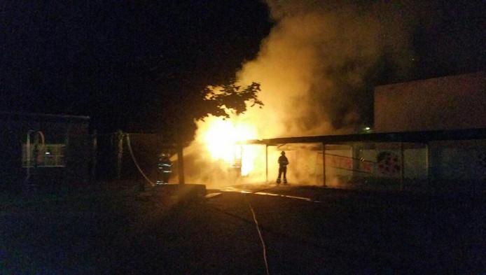De brand in de fietsenstalling