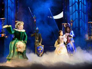 In prinsessenjurk naar Beauty and the Beast