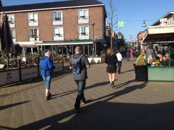 Het Simonsplein, waar tijdens de proef fietsers overheen zouden mogen.