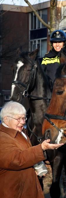 Jopie (95) zorgt voor de paarden bij de Kuip