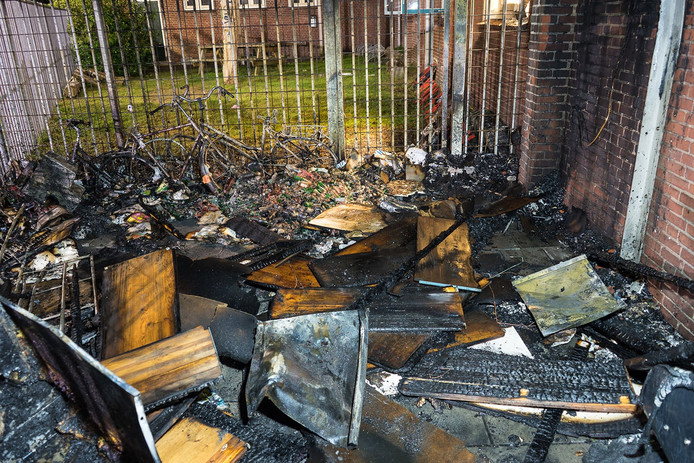 Schade door brand bij de Wijkfabriek.
