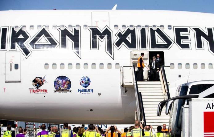 Iron Maiden zet voet op Nederlandse bodem.