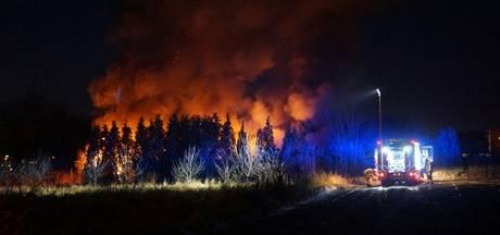 Schuur in brand bij Volkstuinencomplex in Ulft