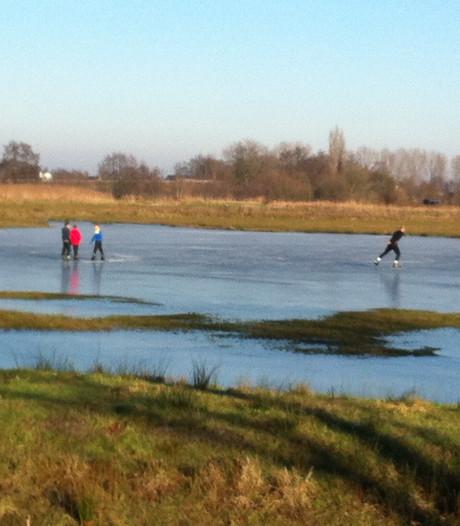 Schaatsen op natuurijs in Veenendaal