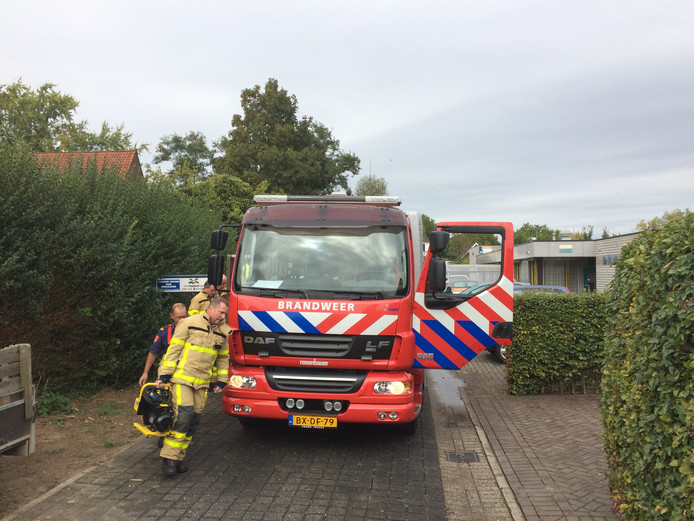 De brandweer spoedt zich om het meisje te bevrijden.