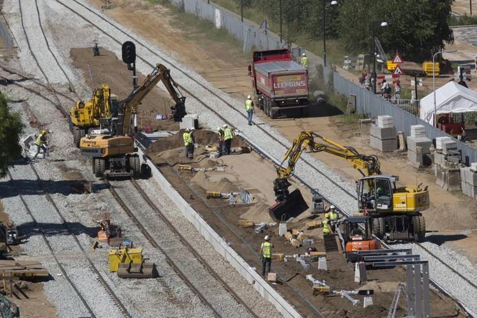 Er is de afgelopen jaren veel aan het spoor gewerkt in de Achterhoek, zoals hier bij station Doetinchem. Foto: Bart Harmsen