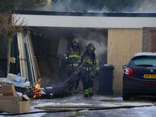 In aanbouw zijnde sauna verwoest door brand