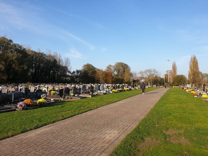 De begraafplaats van Denderleeuw.