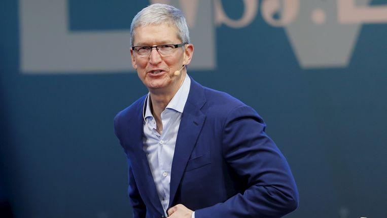 Apple-topman Tim Cook Beeld reuters