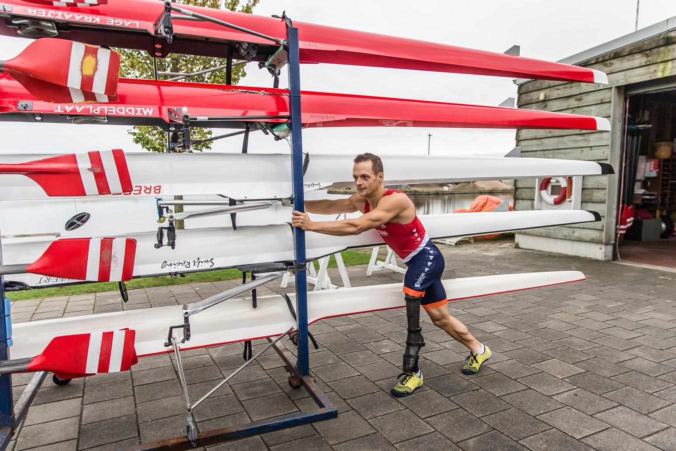 Corné de Koning was maandag in de skiff oppermachtig.