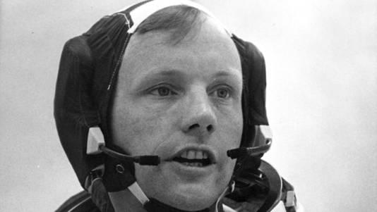 Neil Armstrong voorafgaand aan zijn missie naar de maan, 16 juli 1969